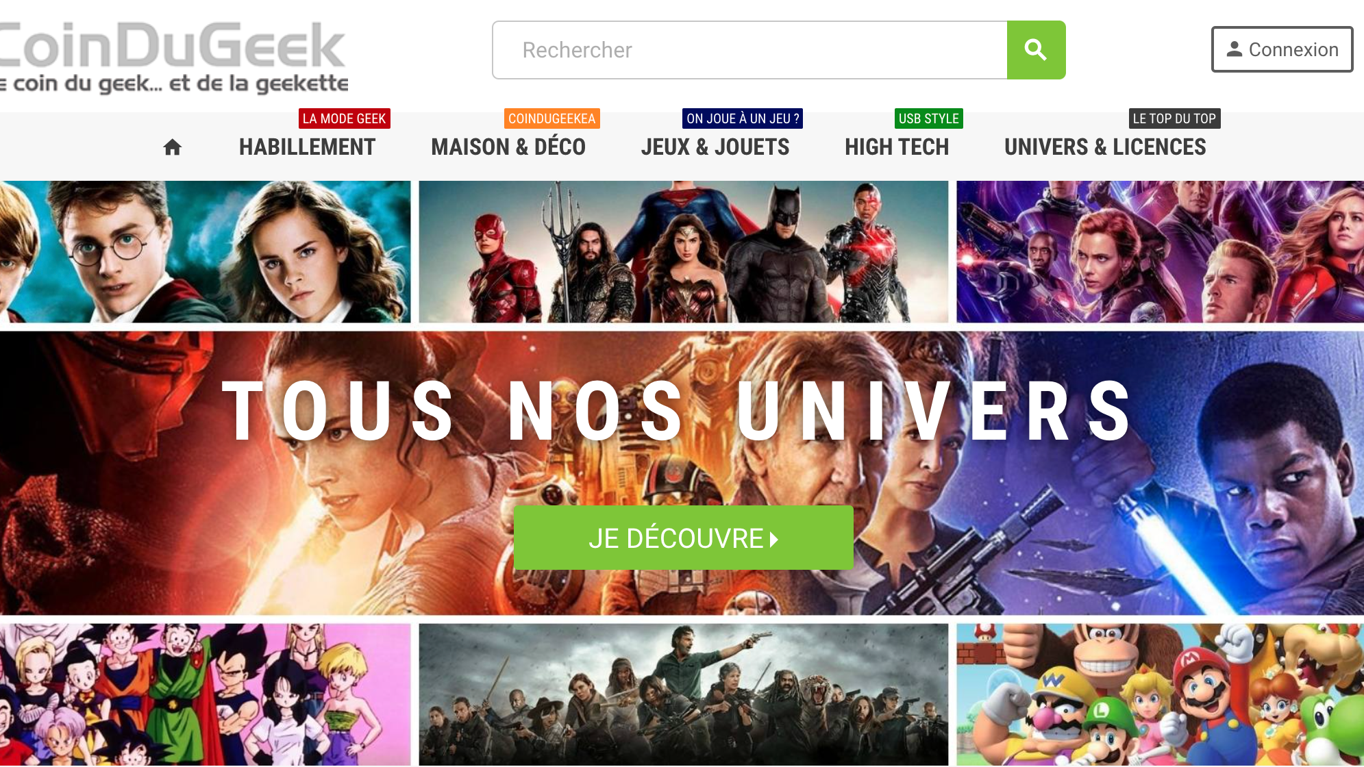 Home page coin du geek